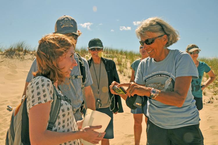 Barbara during a Cape Cod Field School program on Diamondback Terrapins