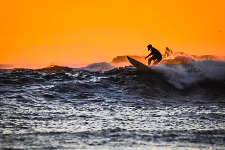 Surfing at Eastern Point © Amy Powers-Smith
